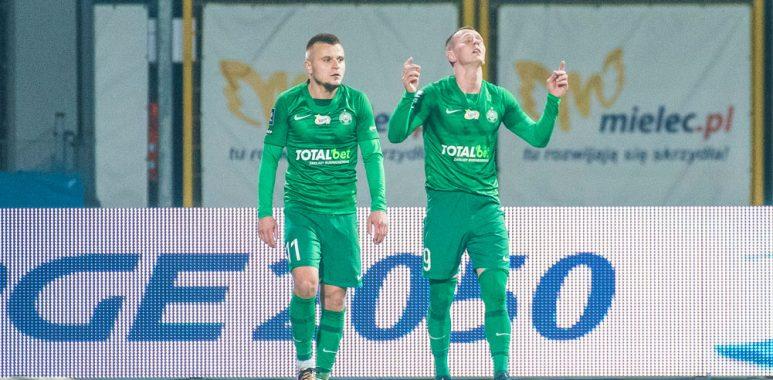 Stal Mielec - Warta Poznań 0:1. Mateusz Kuzimski, Michał Jakóbowski