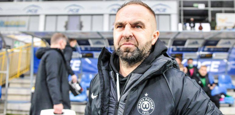 Stal Mielec - Warta Poznań 0:1. Trener Piotr Tworek