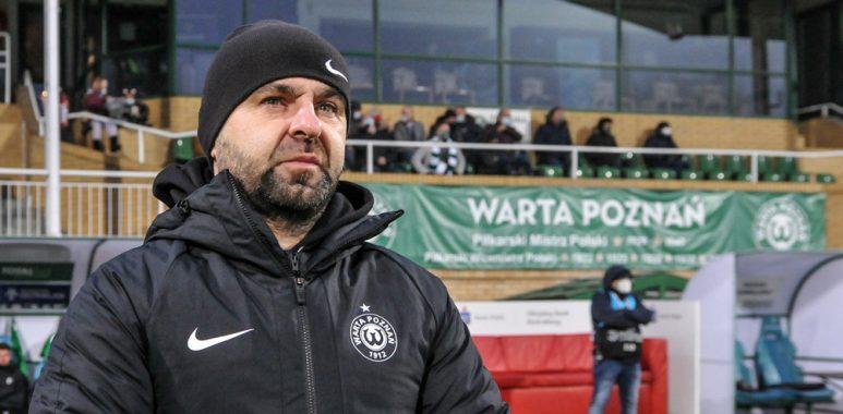 Warta Poznań - Pogoń Szczecin 1:2. Trener Piotr Tworek