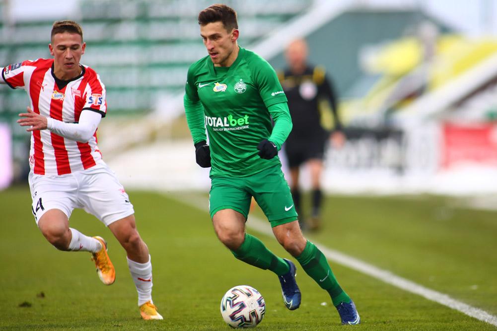Jakub Kiełb w meczu Warta Poznań - Cracovia