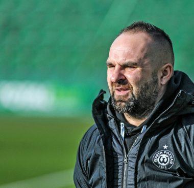 Sparing Warta Poznań - Widzew Łódź 3:1. Trener Piotr Tworek