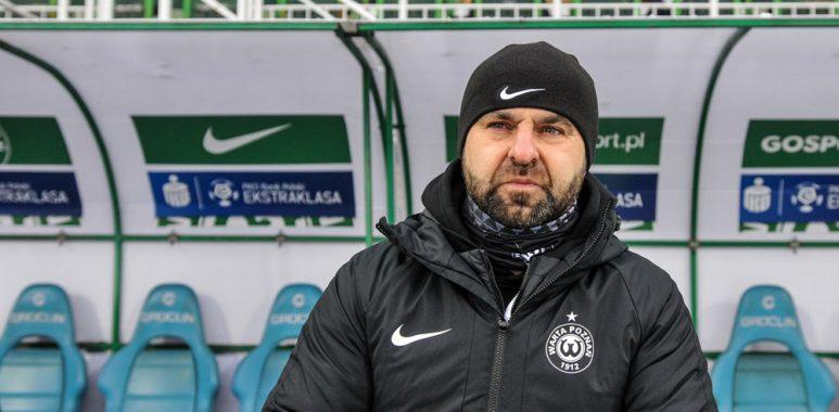 Warta Poznań - Cracovia 1:0. Trener Piotr Tworek