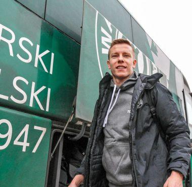 Wyjazd piłkarzy Warty Poznań na obóz do Grodziska Wlkp. Michał Kopczyński