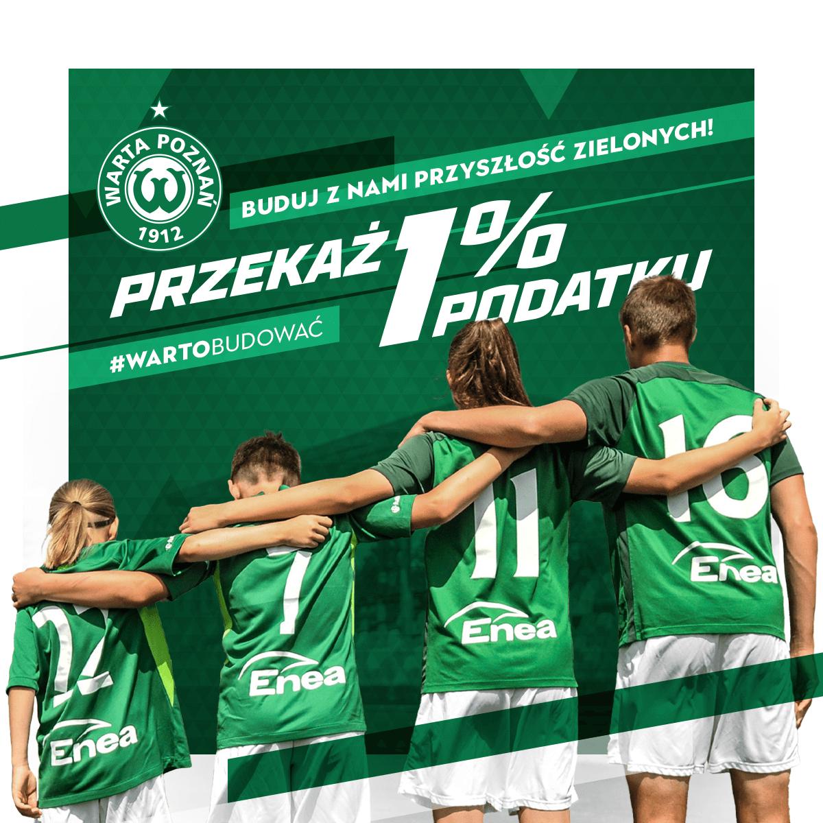 Przekaż 1% podatku na rzecz Warty Poznań