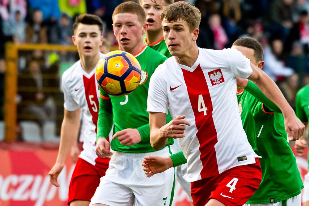 Maik Nawrocki w meczu młodzieżowej reprezentacji Polski