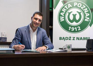 Bartosz Kaczmarek, prezes SoftWater. SoftWater sponsorem Warty Poznań