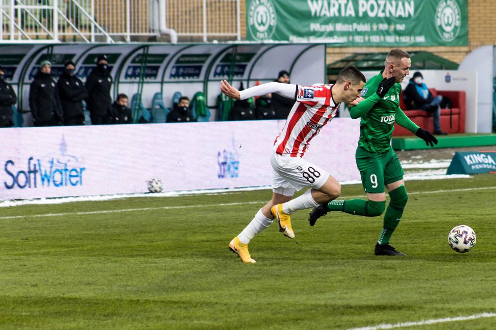 Reklama SoftWater na meczu Warta Poznań - Cracovia
