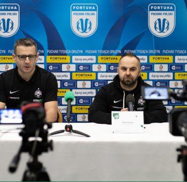 Warta Poznań - Cracovia 0:1 w Fortuna Pucharze Polski. Konferencja prasowa, trener Warty Piotr Tworek