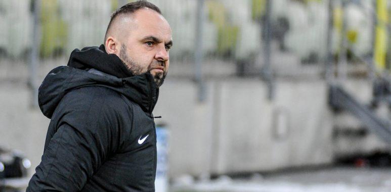 Lechia Gdańsk - Warta Poznań 1:1. Trener Piotr Tworek