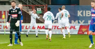 Piast Gliwice - Warta Poznań 0:1. Mateusz Kuzimski