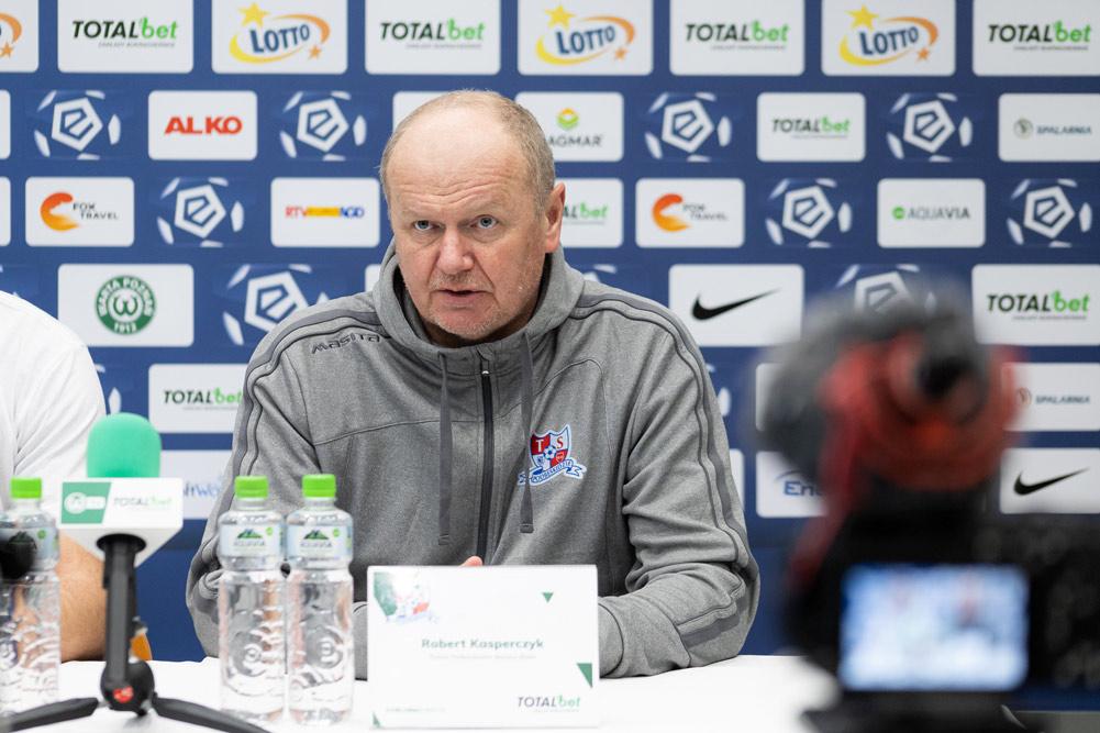 Warta Poznań - Podbeskidzie Bielsko-Biała 2:0. Trener Robert Kasperczyk