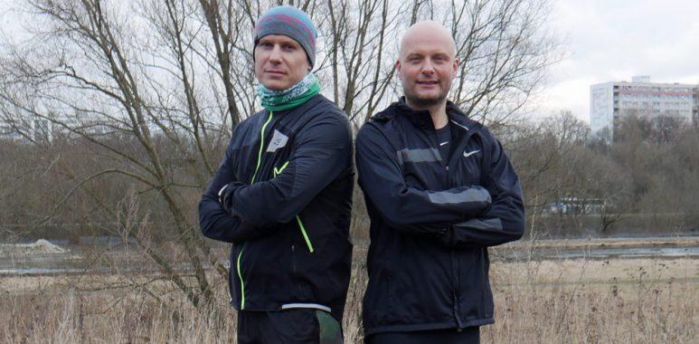 Bartosz Wolny i Maciej Kaczmarek - Bieg Rzeźnika na rzecz amp futbolu Warty Poznań