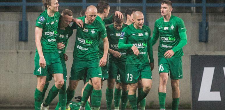 Piłkarze Warty Poznań w meczu z Wisłą Kraków (1:0)