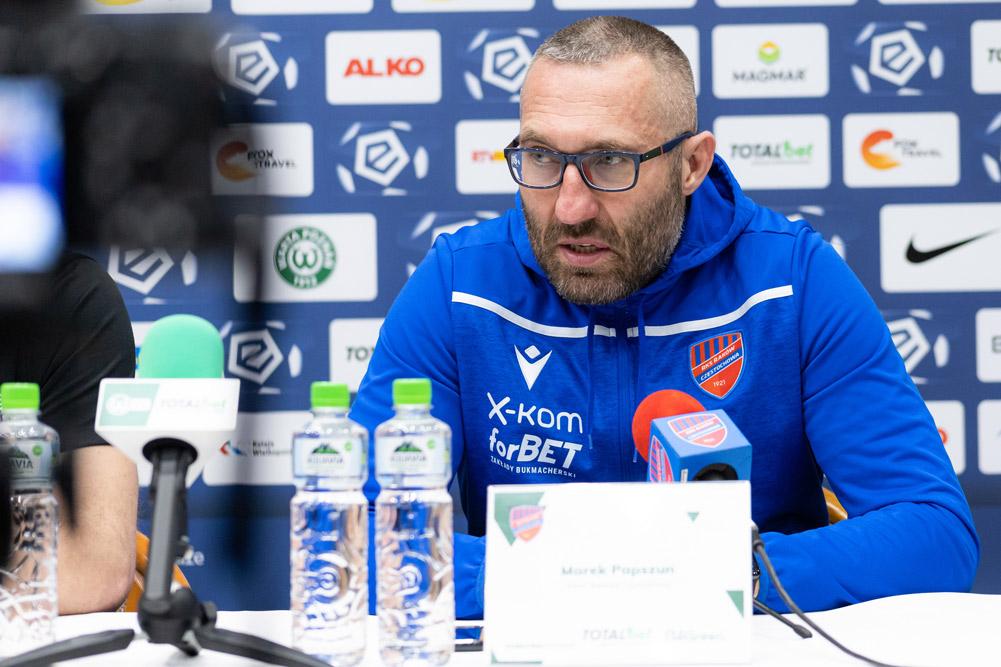Warta Poznań - Raków Częstochowa 0:2. Trener Marek Papszun