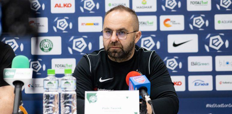 Warta Poznań - Raków Częstochowa 0:2. Trener Piotr Tworek