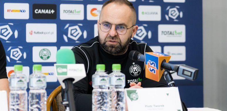 Warta Poznań - Jagiellonia Białystok 2:0. Trener Warty Poznań, Piotr Tworek