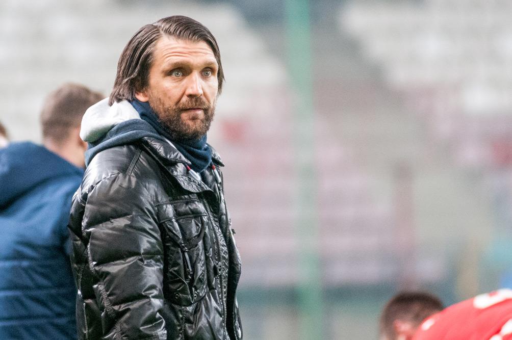 Wisła Kraków - Warta Poznań 0:1. Trener Peter Hyballa