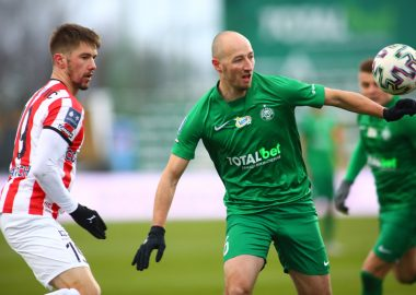 Łukasz Trałka w meczu Warta Poznań - Cracovia