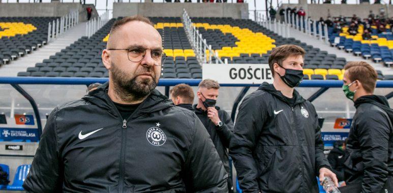 Pogoń Szczecin - Warta Poznań 1:1. Trener Piotr Tworek