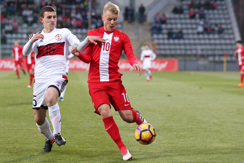 Szymon Czyż w barwach młodzieżowej reprezentacji Polski