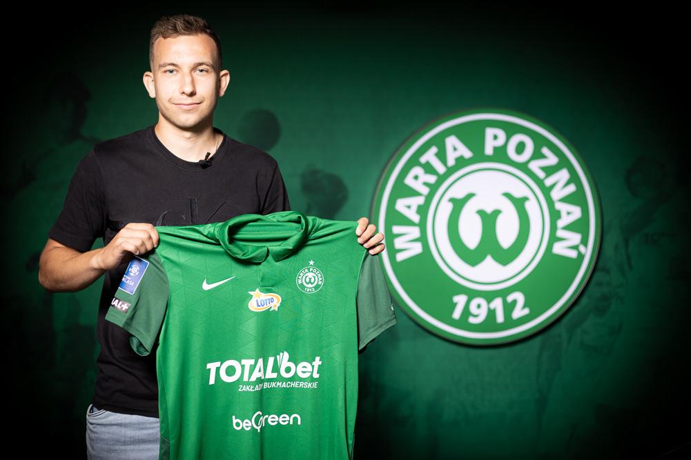 Konrad Matuszewski podpisał kontrakt z Wartą Poznań
