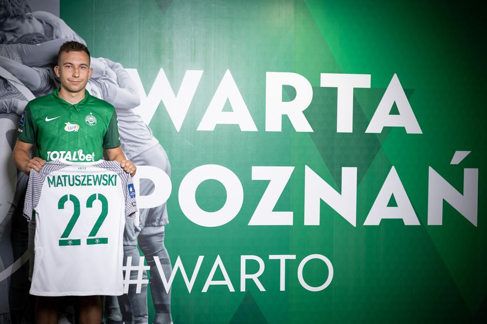 Konrad Matuszewski przeszedł z Legii Warszawa do Warty Poznań
