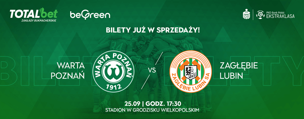 Kup bilet na mecz Warta Poznań - Zagłębie Lubin