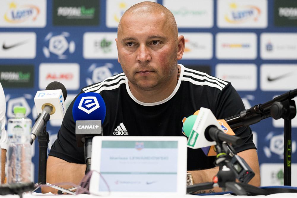 Warta Poznań - Bruk-Bet Termalica Nieciecza 0:0. Trener Mariusz Lewandowski