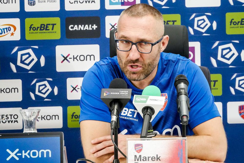 Raków Częstochowa - Warta Poznań 3:0. Trener Marek Papszun